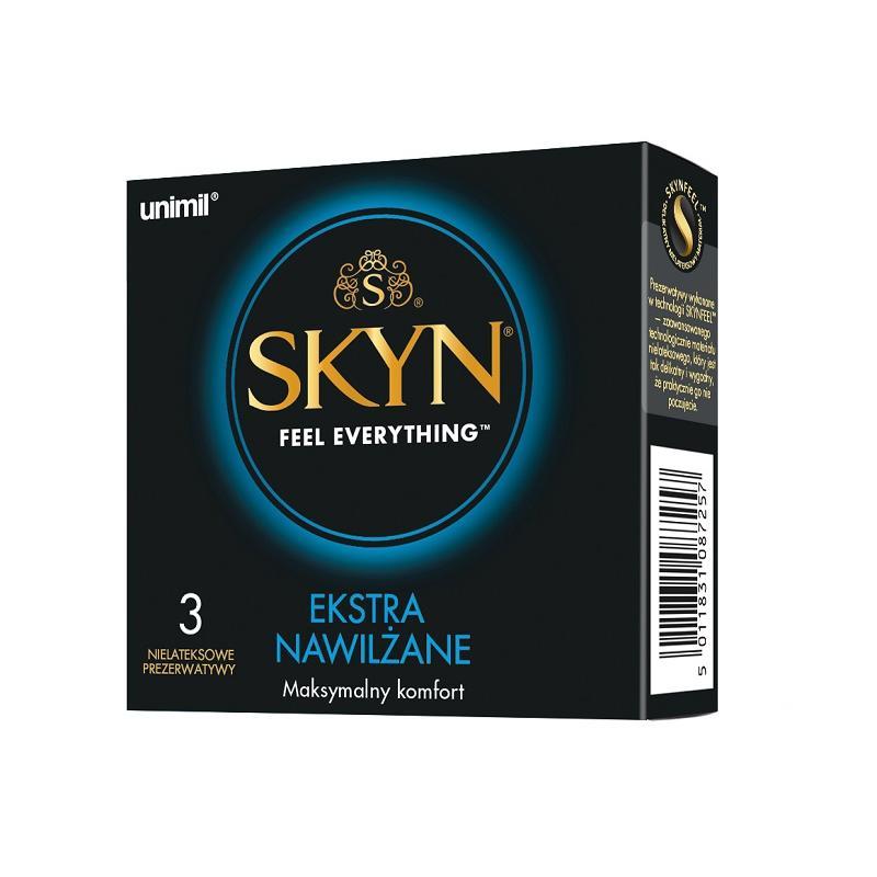 Skyn Ekstra Nawilżane nielateksowe prezerwatywy 3szt