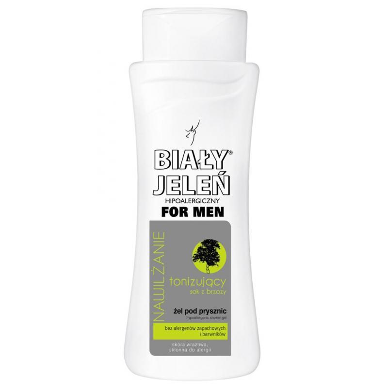 For Men hipoalergiczny żel pod prysznic tonizujący z sokiem z brzozy 300ml
