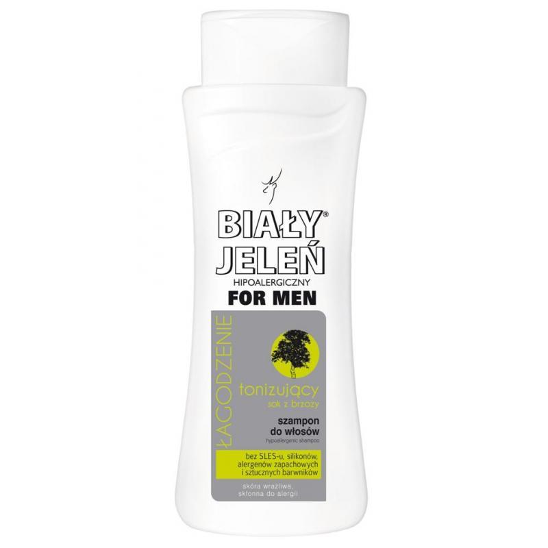 For Men hipoalergiczny szampon do włosów tonizujący z sokiem z brzozy 300ml