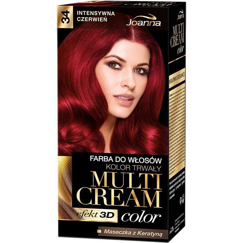 Multi Cream Color farba do włosów 34 Intensywna Czerwień