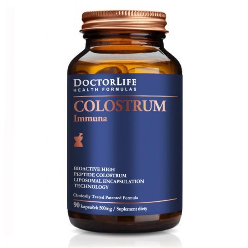 Colostrum Immunab bio-aktywne kolostrum 500mg suplement diety 90 kapsułek
