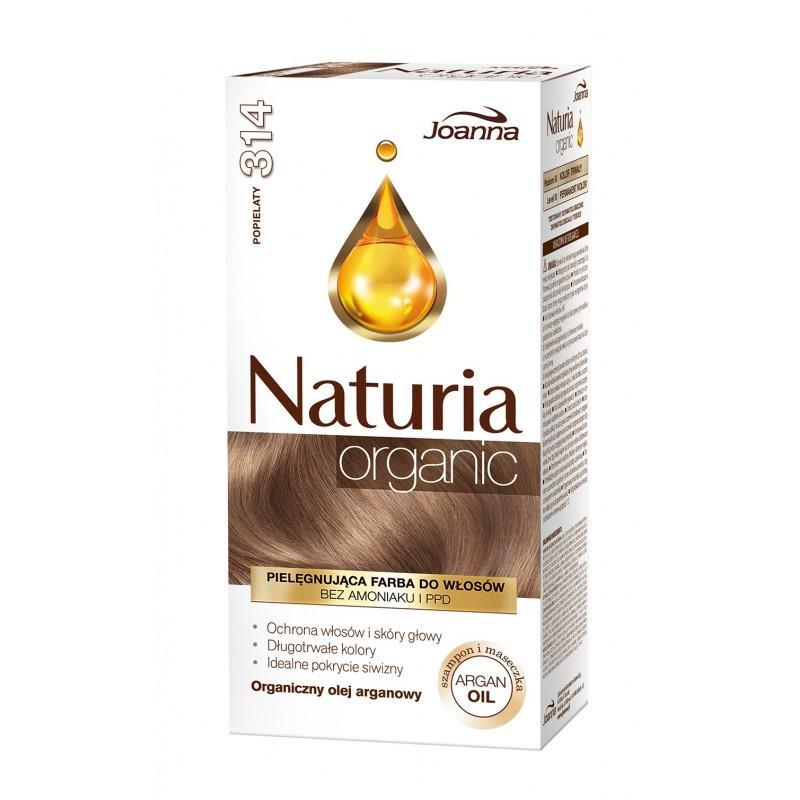 Naturia Organic pielęgnująca farba do włosów bez amoniaku i PPD 314 Popielaty