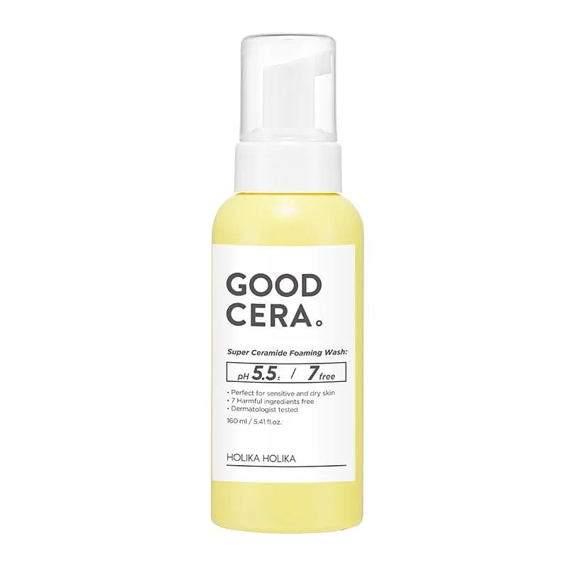Good Cera Super Ceramide Foaming Wash delikatna pianka oczyszczająca do cery suchej i wrażliwej 160ml