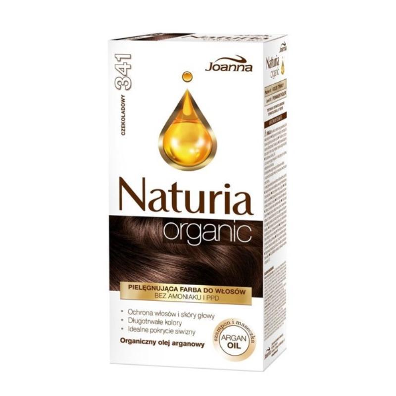 Naturia Organic pielęgnująca farba do włosów bez amoniaku i PPD 341 Czekoladowy