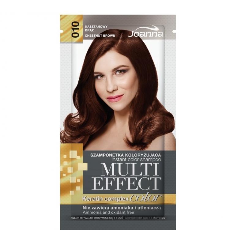 Multi Effect szamponetka koloryzująca 010 Kasztanowy Brąz 35g