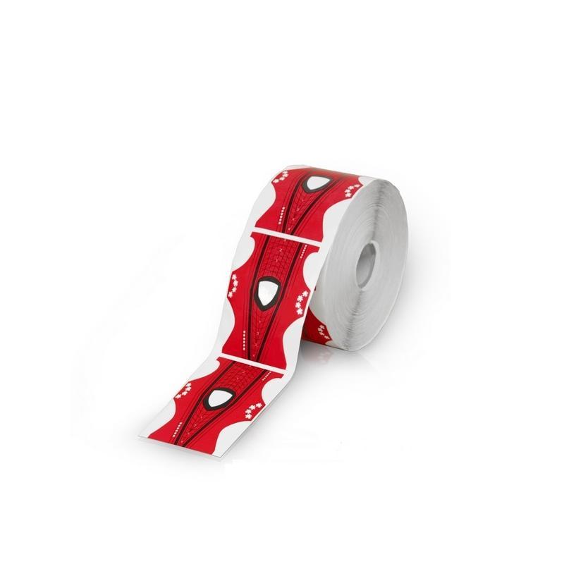 Formy dwustronne do przedłużania paznokci Red 500szt