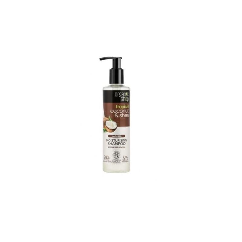 Natural Moisturising Shampoo naturalny szampon nawilżający Coconut & Shea 280ml