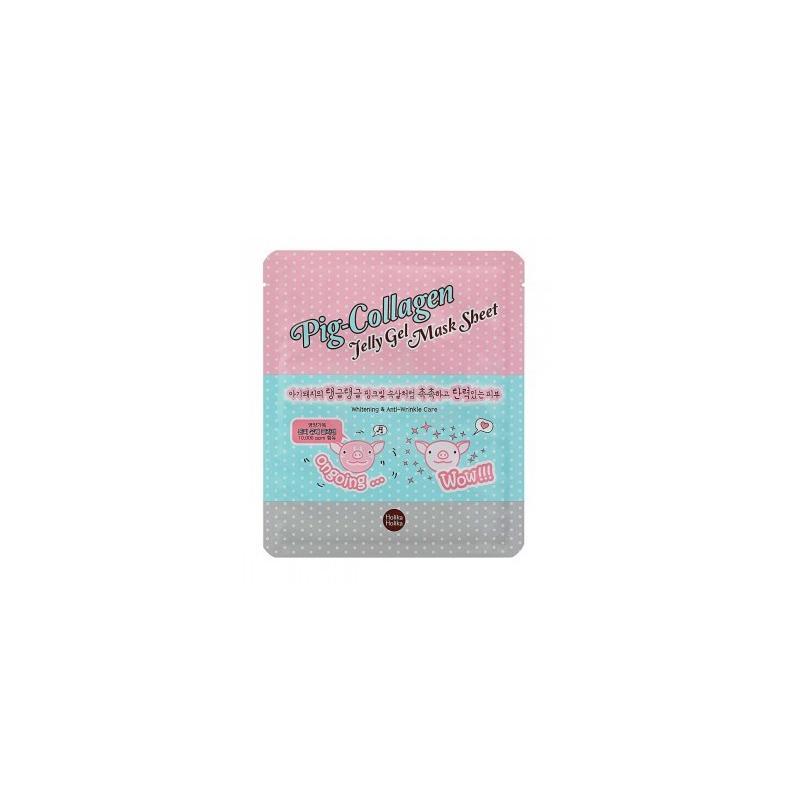 Pig-Collagen Jelly Gel Mask Sheet rozjaśniająca przeciwzmarszczkowa hydrożelowa maseczka do twarzy 25ml