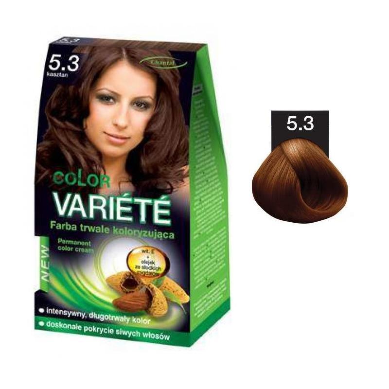 Variete Color Permanent Color Cream farba trwale koloryzująca 5.3 Kasztan 50g
