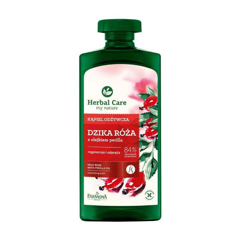 Herbal Care Dzika Róża Nourishing Bath kąpiel odżywcza z olejkiem perilla 500ml