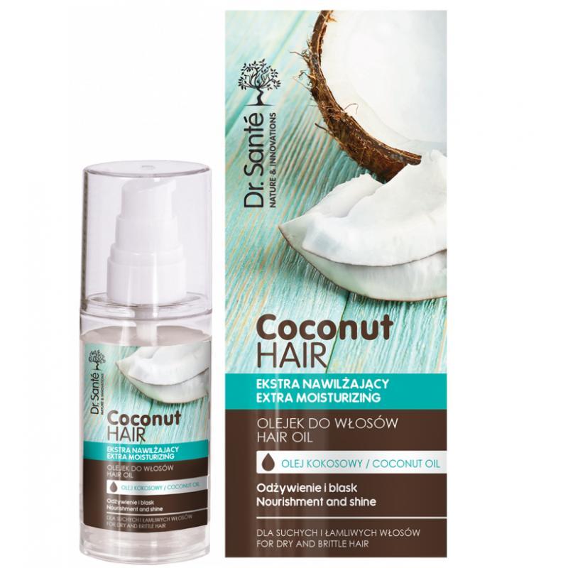 Coconut Hair Oil olejek kokosowy ekstra nawilżający do włosów suchych i łamliwych 50ml