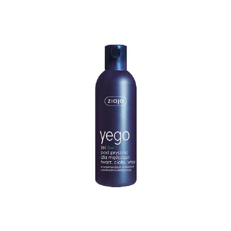 Yego żel 3w1 pod prysznic dla mężczyzn twarz ciało włosy 300ml