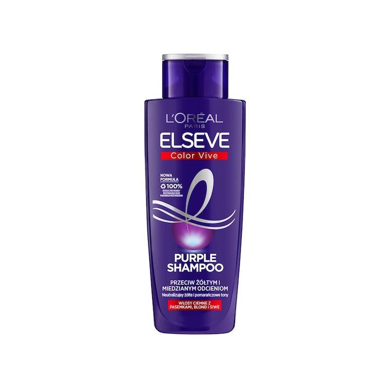 Elseve Color-Vive Purple Shampoo fioletowy szampon przeciw żółtym i miedzianym odcieniom 200ml