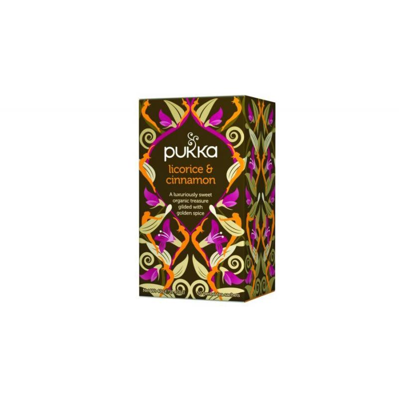 Licorice & Cinnamon organiczna herbatka ziołowa z lukrecją i kakao 20 torebek