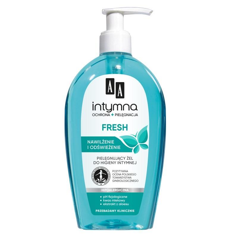 Intymna Fresh Feminine Wash hipoalergiczny płyn do higieny intymnej z dozownikiem 300ml