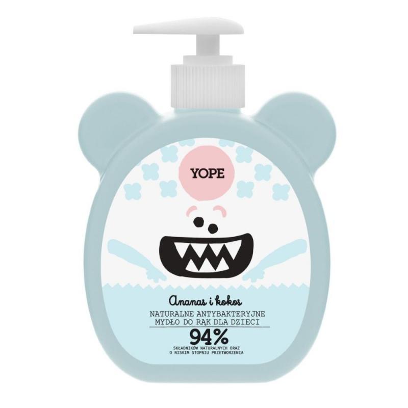 Naturalne antybakteryjne mydło do rąk dla dzieci Ananas i Kokos 400ml