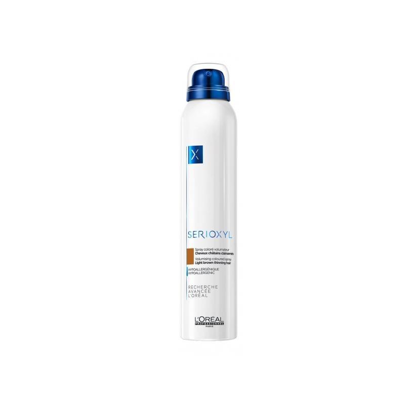 Serioxyl Volumising Coloured Spray koloryzujący spray zwiększający objętość włosów Light Brown 200ml