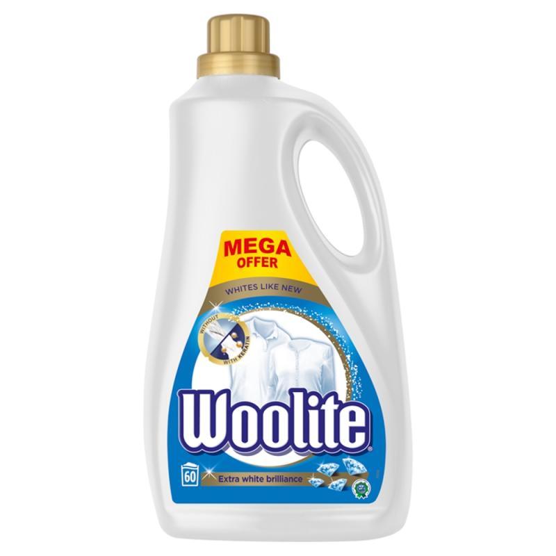 Extra White Brilliance płyn do prania bieli i jasnych tkanin z keratyną 3600ml