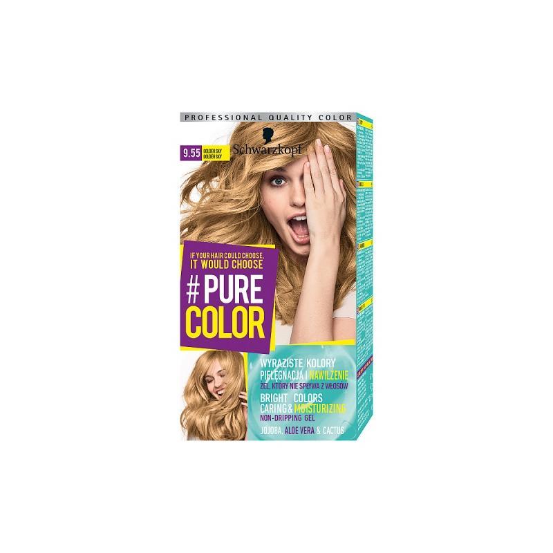 Pure Color farba do włosów w żelu trwale koloryzująca 9.55 Golden Sky