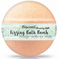 Fizzing Bath Bomb kula do kąpieli Orange-Vanilla Ice Cream 130g