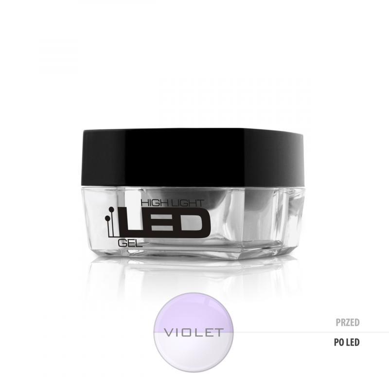 High Light Led Gel średniogęsty jednofazowy żel do paznokci Violet 15g