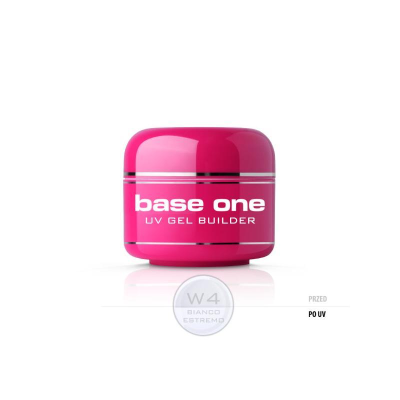Gel Base One Bianco Estremo W4 żel budujący do paznokci 5g