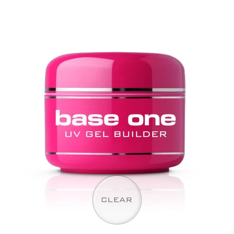 Base One Clear bezbarwny żel budujący do paznokci 50g