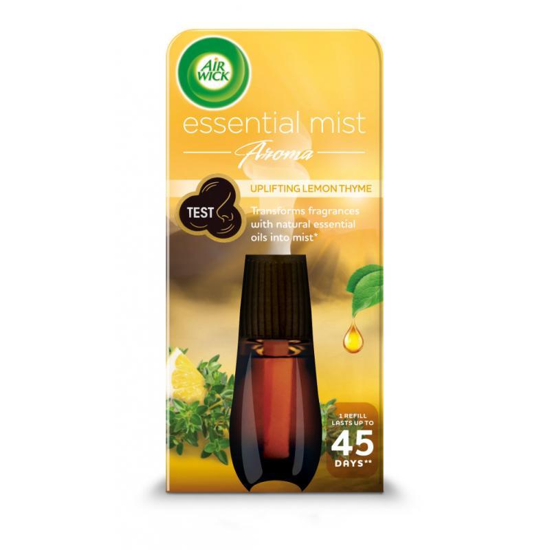 Essential Mist Aroma orzeźwiający wkład do automatycznego odświeżacza o zapachu cytryny i tymianku 20ml