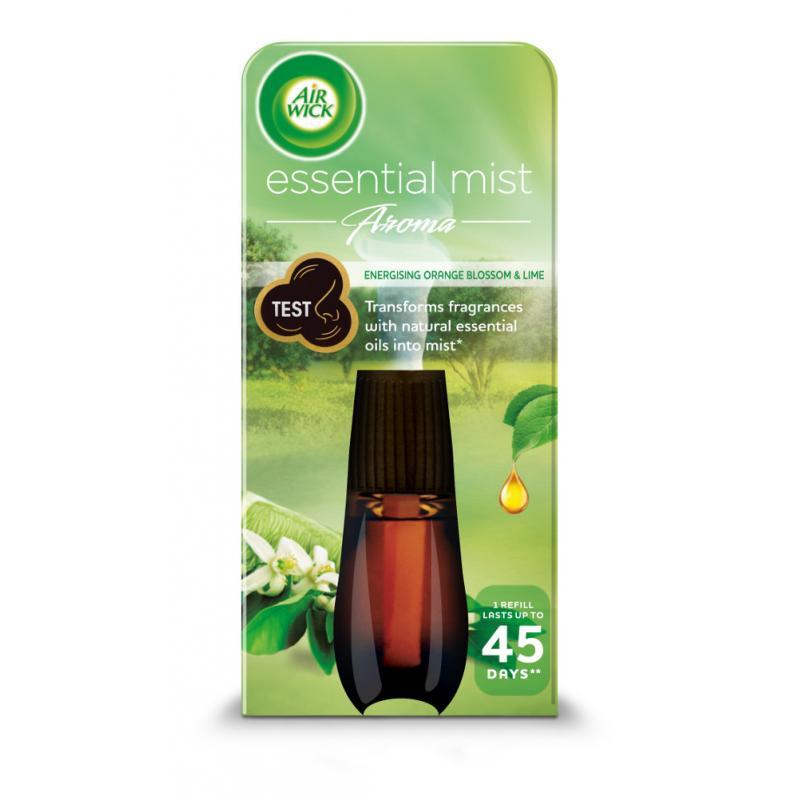 Essential Mist Aroma energetyzujący wkład do automatycznego odświeżacza o zapachu limonki i pomarańczy 20ml