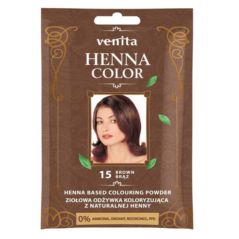 Henna Color ziołowa odżywka koloryzująca z naturalnej henny 15 Brąz