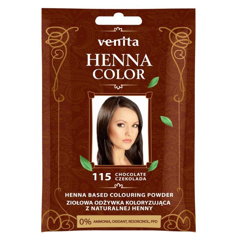 Henna Color ziołowa odżywka koloryzująca z naturalnej henny 115 Czekolada