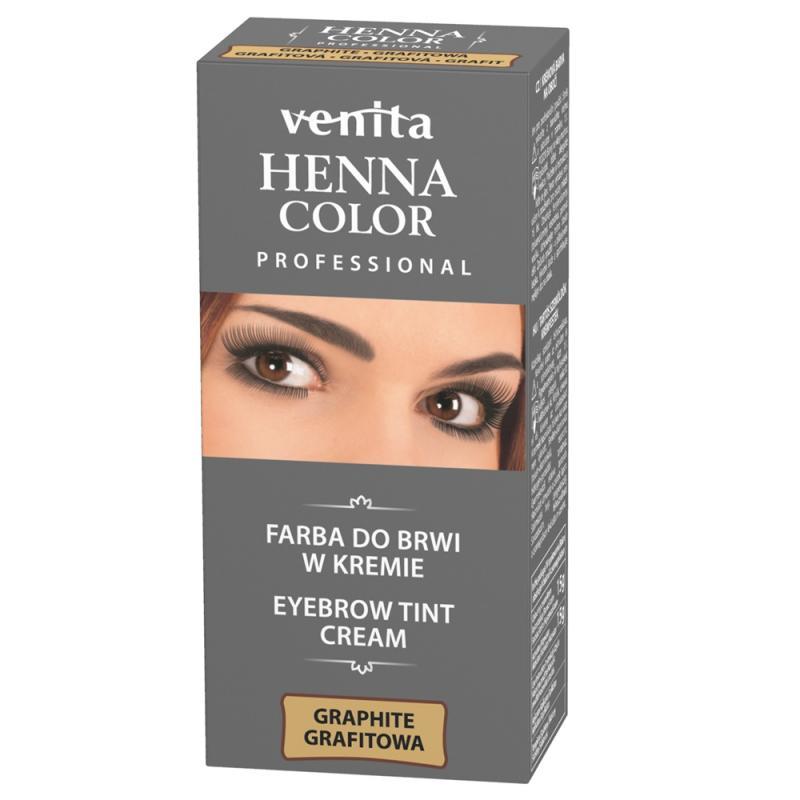 Professional Henna Color farba do brwi w kremie Grafit