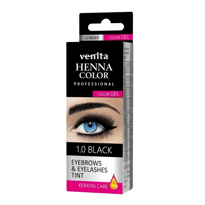 Henna Color Gel żelowa farba do brwi i rzęs 1.0 Black
