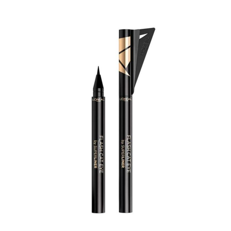 Flash Cat Eye Superliner eyeliner w pisaku 01 Black
